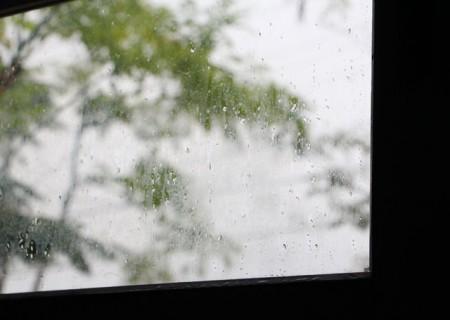 雨の日窓硝子2